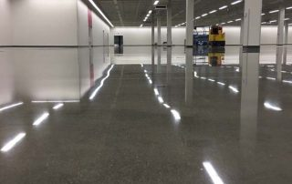 polished floor in an office building