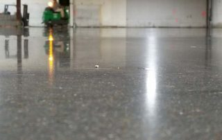 close up of polished floor with light reflecting